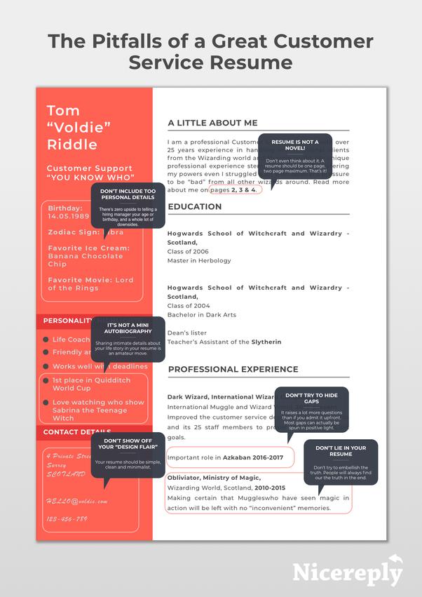 How Do Write A Customer Service Resume Quora