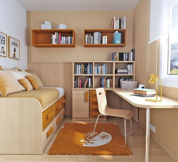 Study Room Decor Ideas: How To Decorate And Put Things In A Small Bedroom Cum