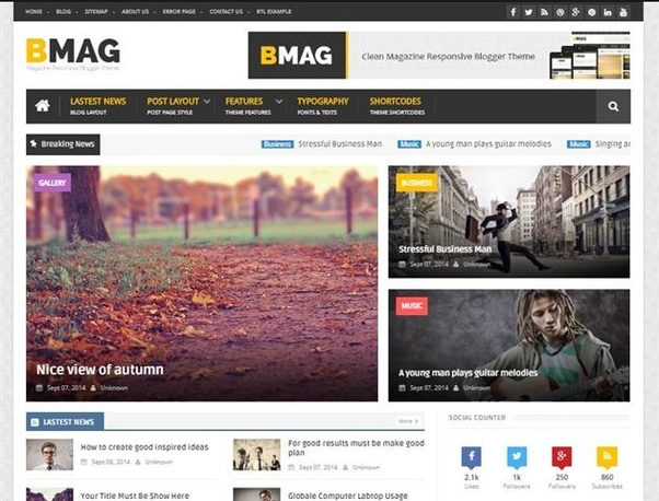 Which one is the best free blogger template? - Quora
