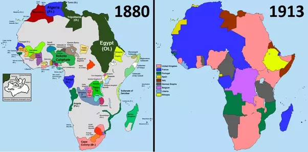 What did the geographical map of africa look like before the even late after the second world war when the africans resumed control over their continent they did not change the erratic lines formed by the europeans gumiabroncs Choice Image
