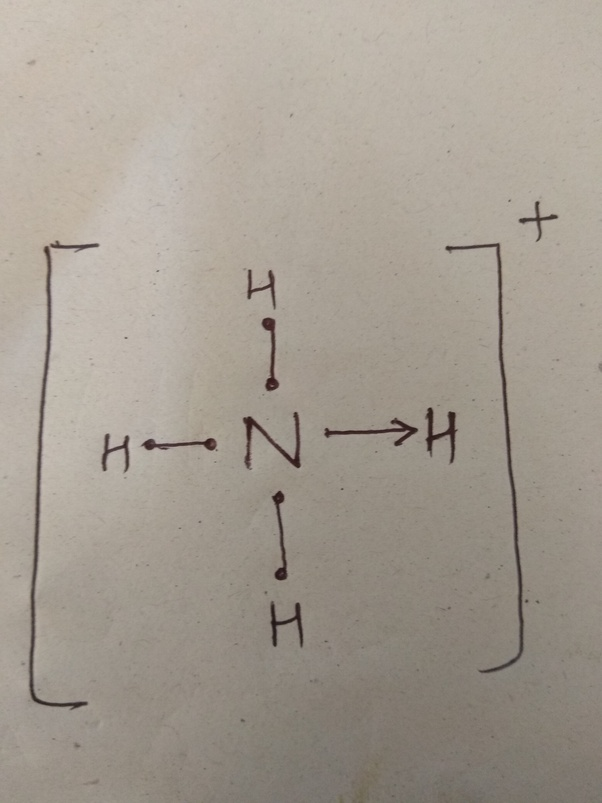 so in this case 3 bondings are possible with covalent bond but for last  hydrogen it binds using coordinate covalent bond  the lewis structure is  shown on