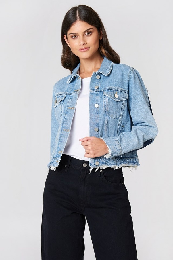What is best to wear with a denim jacket? - Quora