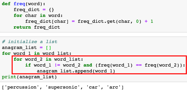 How to compare two words on Python 3 and check if they are
