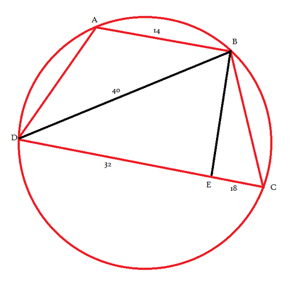 In cyclic quadrilateral abcd ab is parallel to dc let ab 14 cd this is rough diagram without any scale used actual diagram may look different steps draw perpendicular from ccuart Gallery