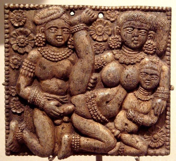 Even older depictions exist and pornographic art is not limited to Europe  or the West. The following sculpture originates from India and dates from  about ...