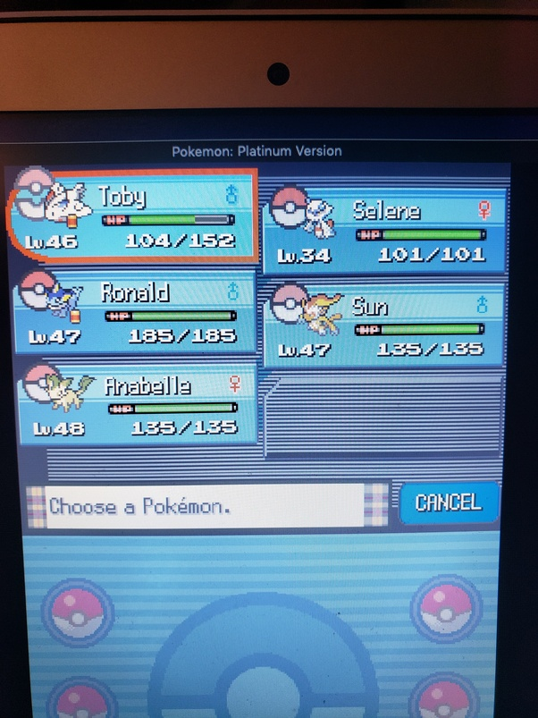 pokemon flawless platinum pokedex