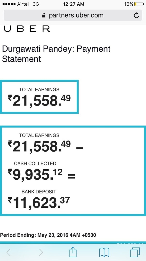 Uber Car Insurance >> What is the average daily income of an Uber cab driver in India? - Quora