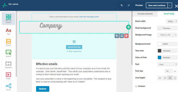 What Service Should I Use To Launch An Email Newsletter Campaign - Free email template editor