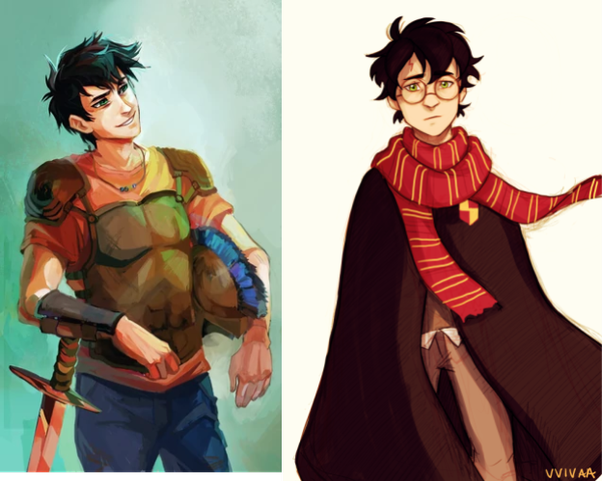 Can you thoroughly compare and contrast Harry Potter and Percy