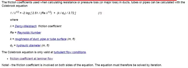 How to calculate the friction factor of a turbulent flow using the answer wiki ccuart Images