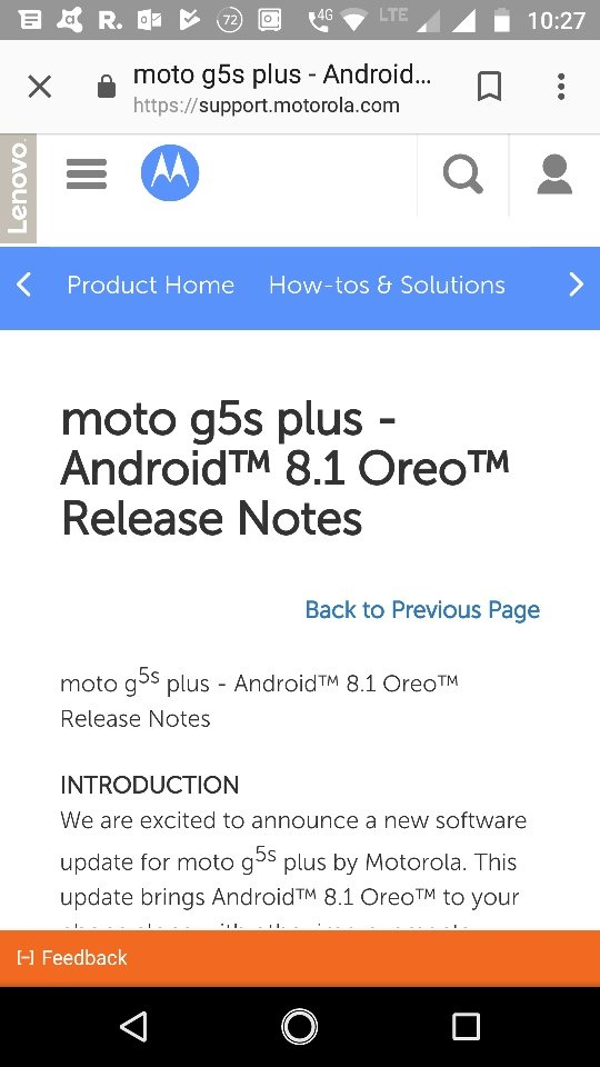 When will the Moto G5S Plus get the Android Oreo update? - Quora