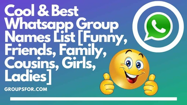 What are some cool WhatsApp group names? - Quora