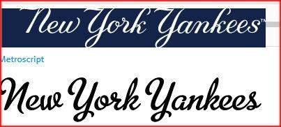 what is the new york yankees font quora rh quora com New York Yankees Logo Wallpaper new york yankees script logo font
