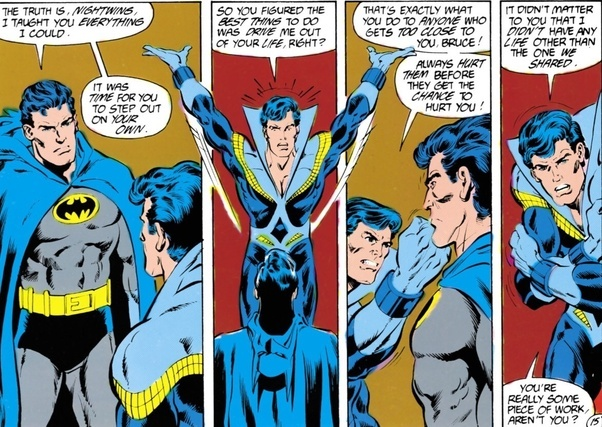 I find it hard to disagree with Nightwing there. And the fact that Jason was given the role of Robin without Dicku0027s blessing contributed to the fan backlash ...  sc 1 st  Quora & Why did Nightwing leave Batman? - Quora