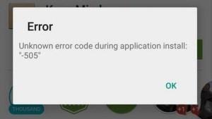 No puedo actualizar mi aplicación de YouTube (piruleta de Android).  Cada vez que lo intento, muestra el código de error 505. ¿Qué debo hacer?