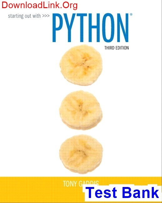 How To Find Starting Out With Python 3rd Edition Gaddis Test Bank