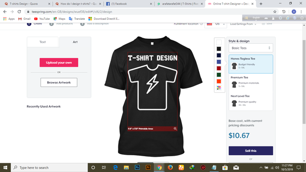 What Is The Right T Shirt Designer Tool Quora