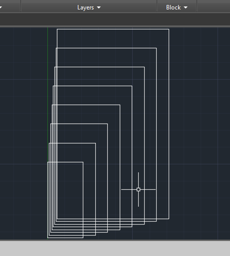 how to make square with rectangle autocad