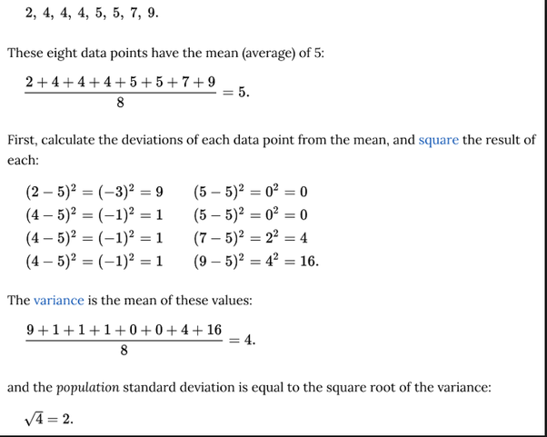 what does average deviation mean