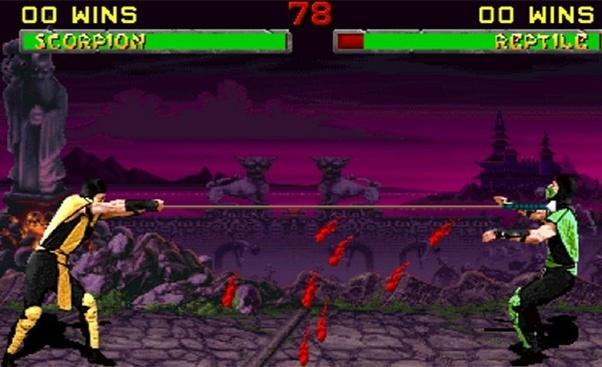 mortal kombat movie scorpion spear