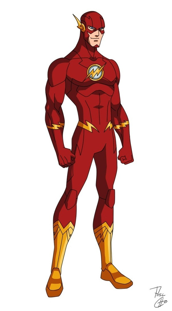 It is a graphic of Priceless Flash Superhero Images