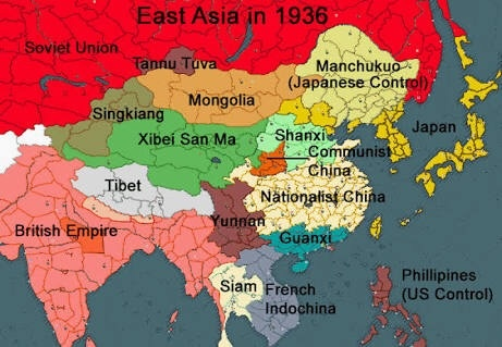 Map Of Asia During Ww2.Why Was China Called Sick Man Of Asia During Ww2 Period Quora