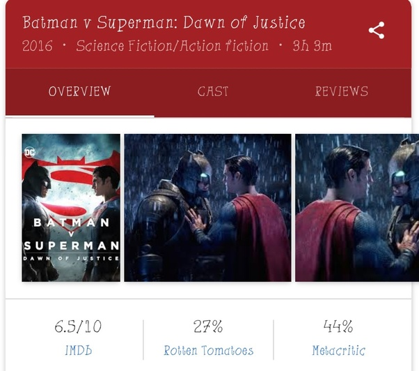 Why do people dislike Batman v Superman just because it