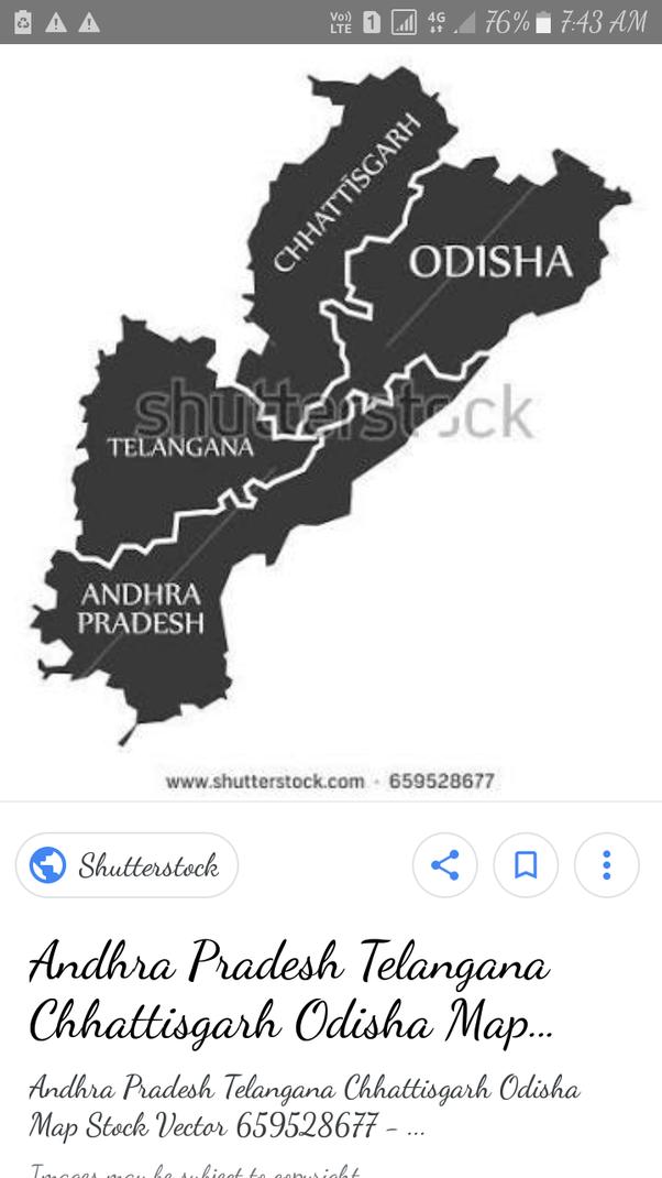 Is Odisha a neighbouring state of Telangana? - Quora