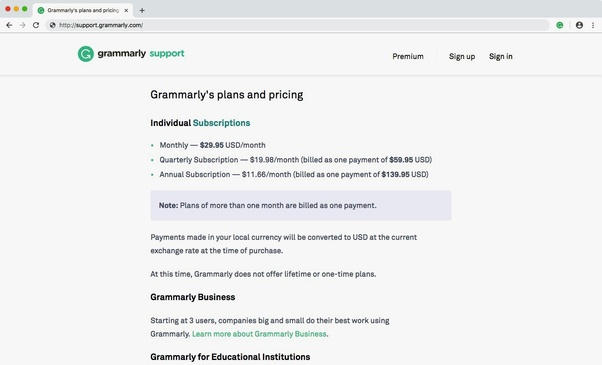 Not known Details About Grammarly Costs