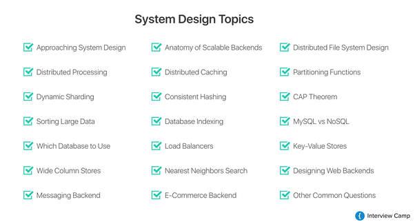 What System Design Distributed Systems And Scalability Topics Should I Study In Order To Be Adequately Prepared For A Google Software Engineer Interview Quora