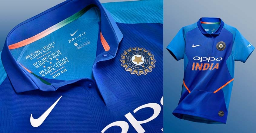 i am from india the 2019 world cup jersey got released on 1st march 2019 by nike in the presence of some cricketers like kohli dhoni rahane harmanpreet