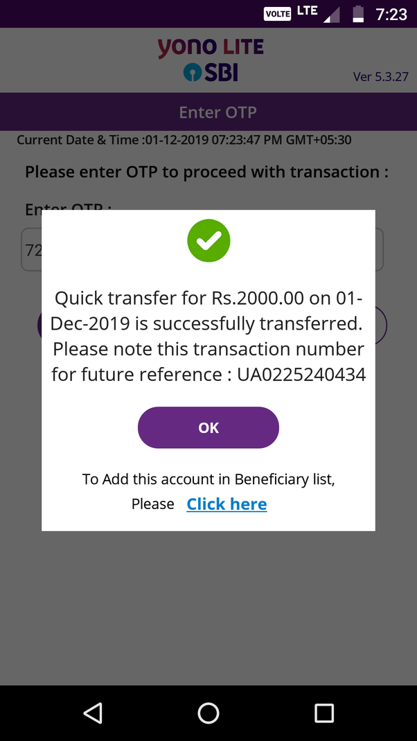 What is the online transaction reference number in SBI? - Quora