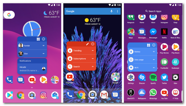 What is the best launcher for Android, AWD, Zeam, LuancherPro, AOSP