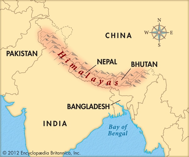 Where Are The Himalayas Located On A World Map.Which Country Has The Most Of The Himalayas Quora