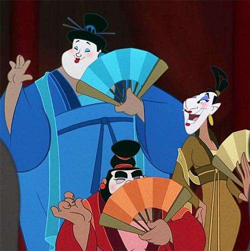 Men in Mulan dressed as women
