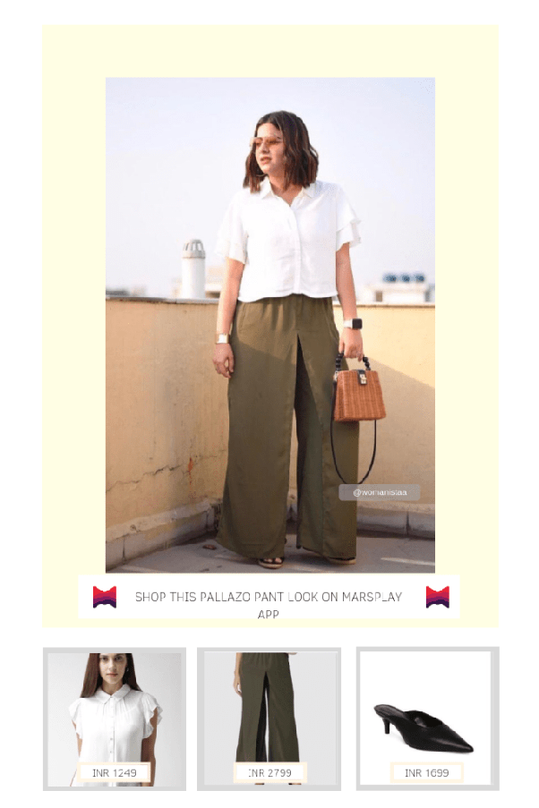 2f04ea98e6d White shirt will brighten your overall outfit and will also keep the look  far from being too formal. Wear jute wedges to finish the outfit.
