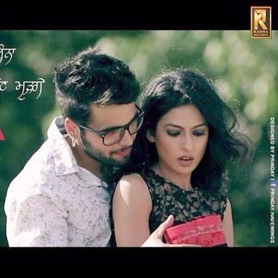 Who is the female model in the Punjabi Song 'Nakhra Nawabi