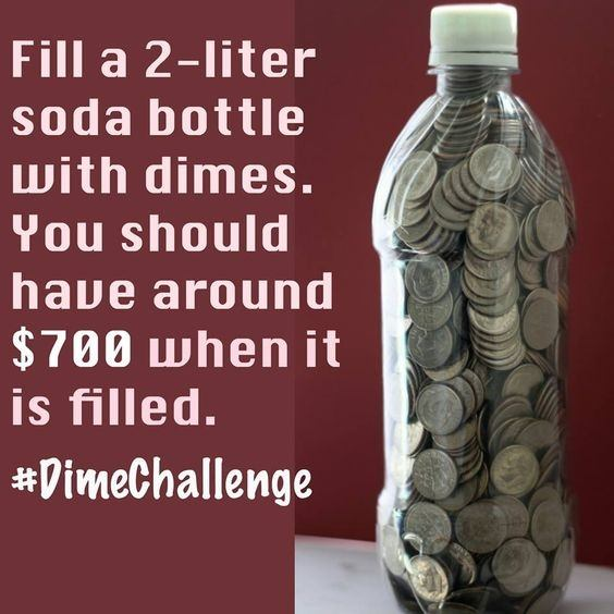 If You Fill A Two Liter Bottle Full Of Dimes Approximately How Much Is That Worth Quora