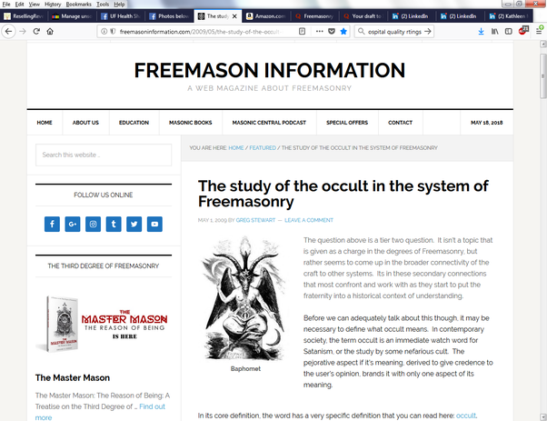 Is Freemasonry a Satanic cult? - Quora