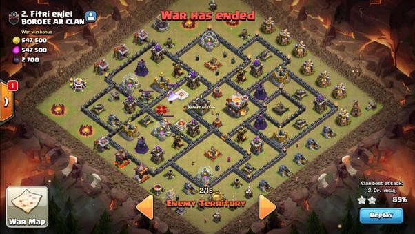 Base Coc Th 10 Terkuat Untuk War 2