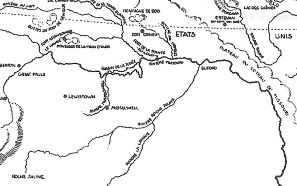 yellowstone river on a us map choice image