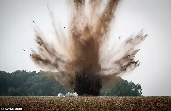 When a person is near an explosion, does its body get ...