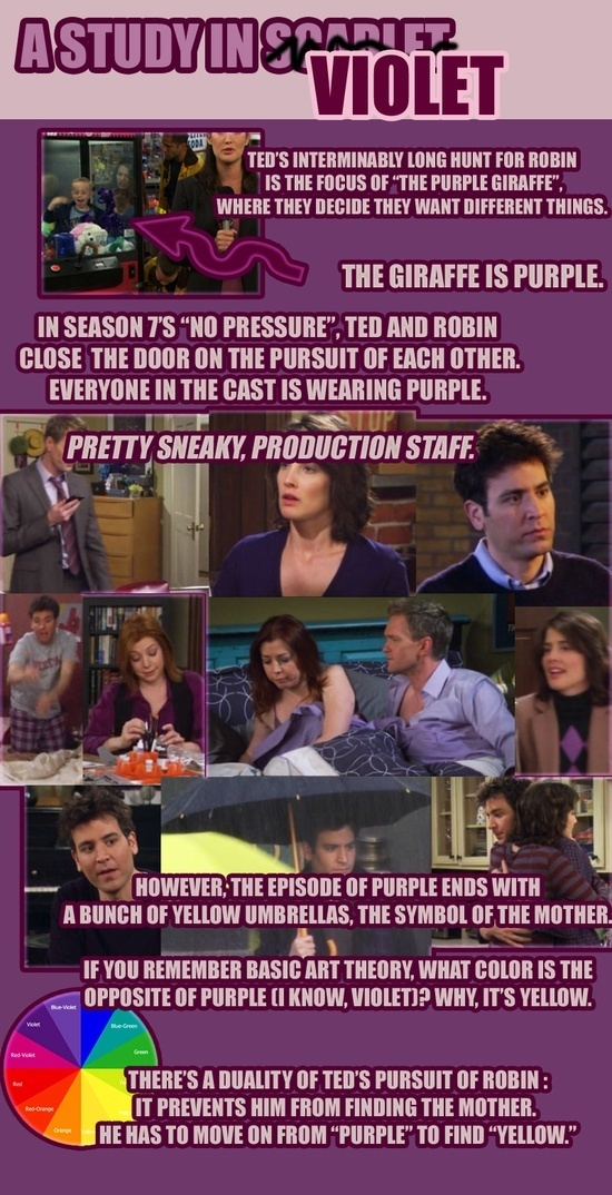 Whats With All The Purple On How I Met Your Mother Quora
