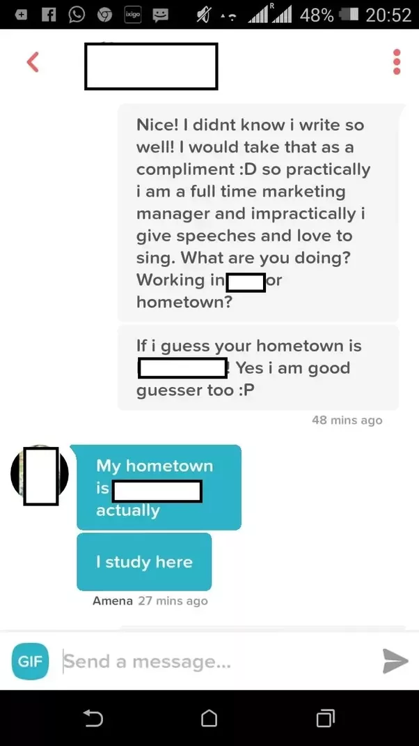 What are some good conversations on tinder to impress a girl in ok so i recently had this conversation with a girl i hope that answers your question d ccuart Choice Image