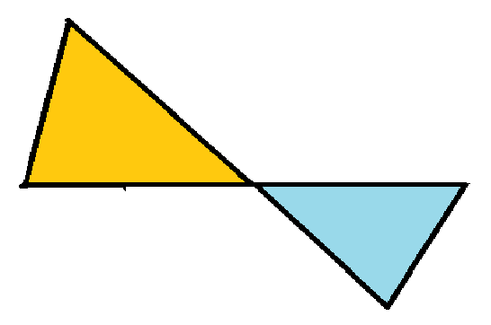 Two triangles together