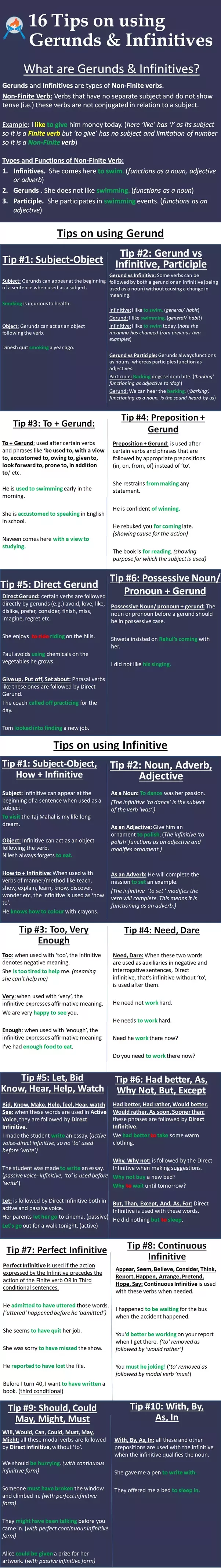 Where Can We Use Both Infinitives And Gerunds Quora