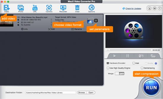 step 2 adjust mp4 video compression settings