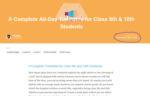 What is the best all day timetable for class 9th & 10th