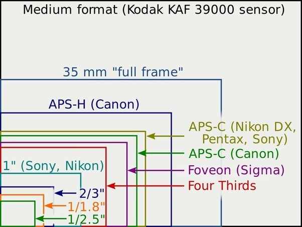 Image result for Advantages of using cameras with larger sensors