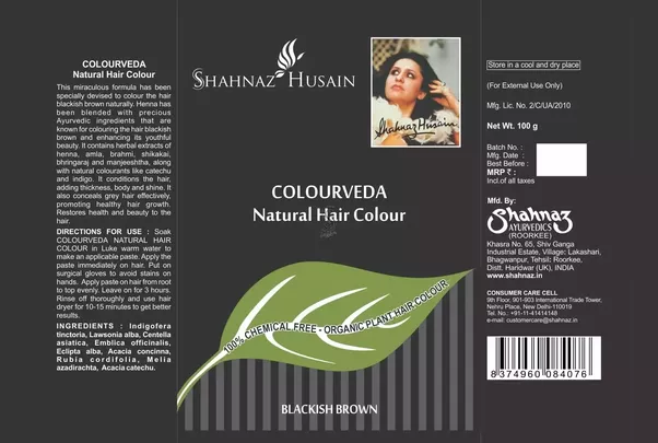 Shahnaz Husain Colourveda Natural Hair Colour Black